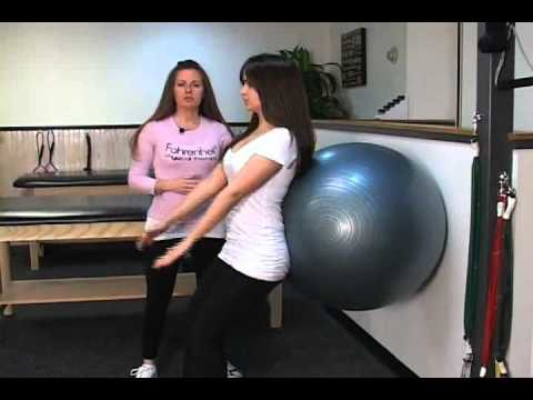 Ball Squats for Lower Back