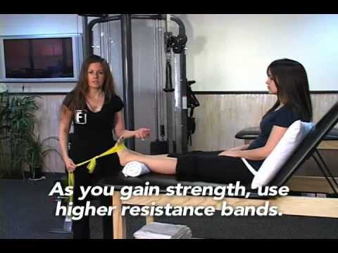 Ankle Exercises with Resistance Tubing