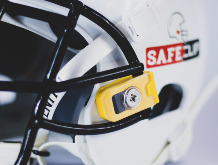 S.A.F.E.Clip, Mayfield Athletics' flagship product, is a facemask clip proven to reduce impact to the head/neck area by up to 35% for football players.