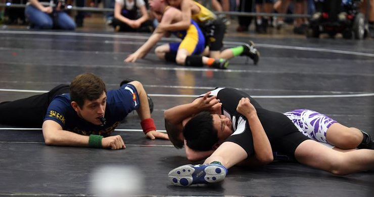 wrestling (U.S. Air Force photo-Staff Sgt. Debbie Lockhart)